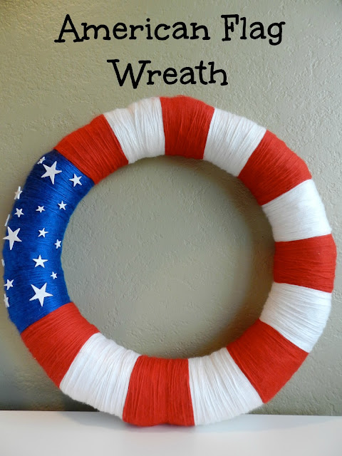 DIY American Flag Wreath