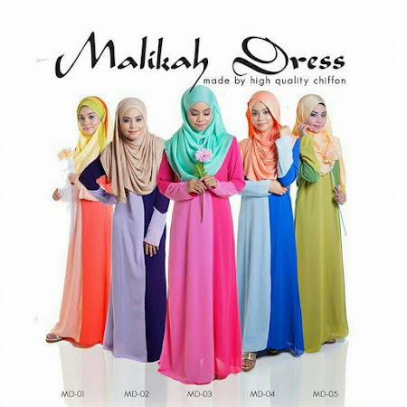 Jubah Malikah Yang Wjib Anda Miliki Sangat  Menawan & Trendy Terdapat Dalam Pelbagai Warna