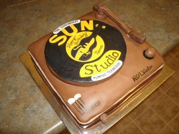 Rockabilly N Blues Radio Hour Sun Records Cake - Rockabilly birthday cake