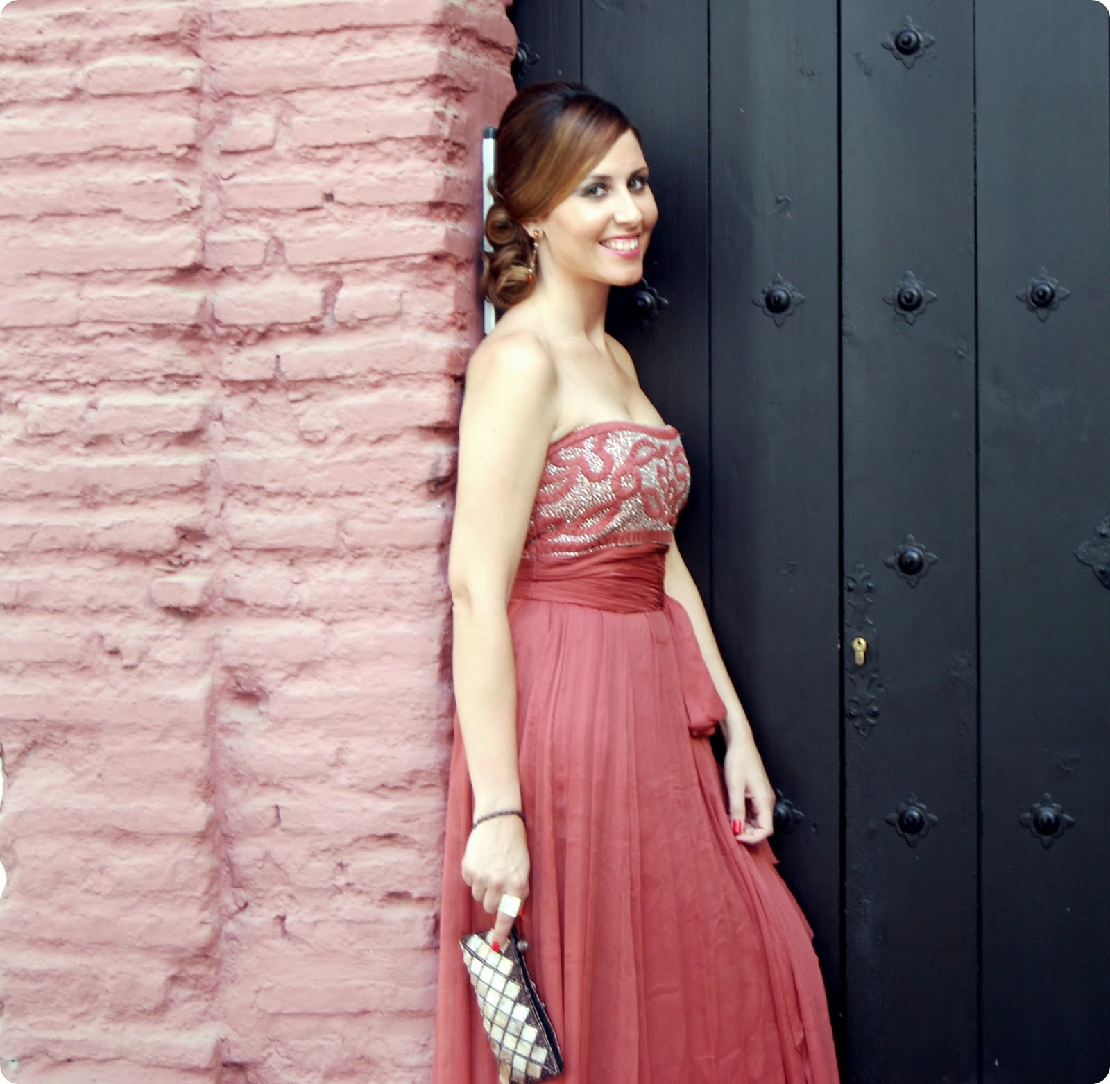 Increíble Vestido De Fiesta Sencilla Embellecimiento - Colección de ...