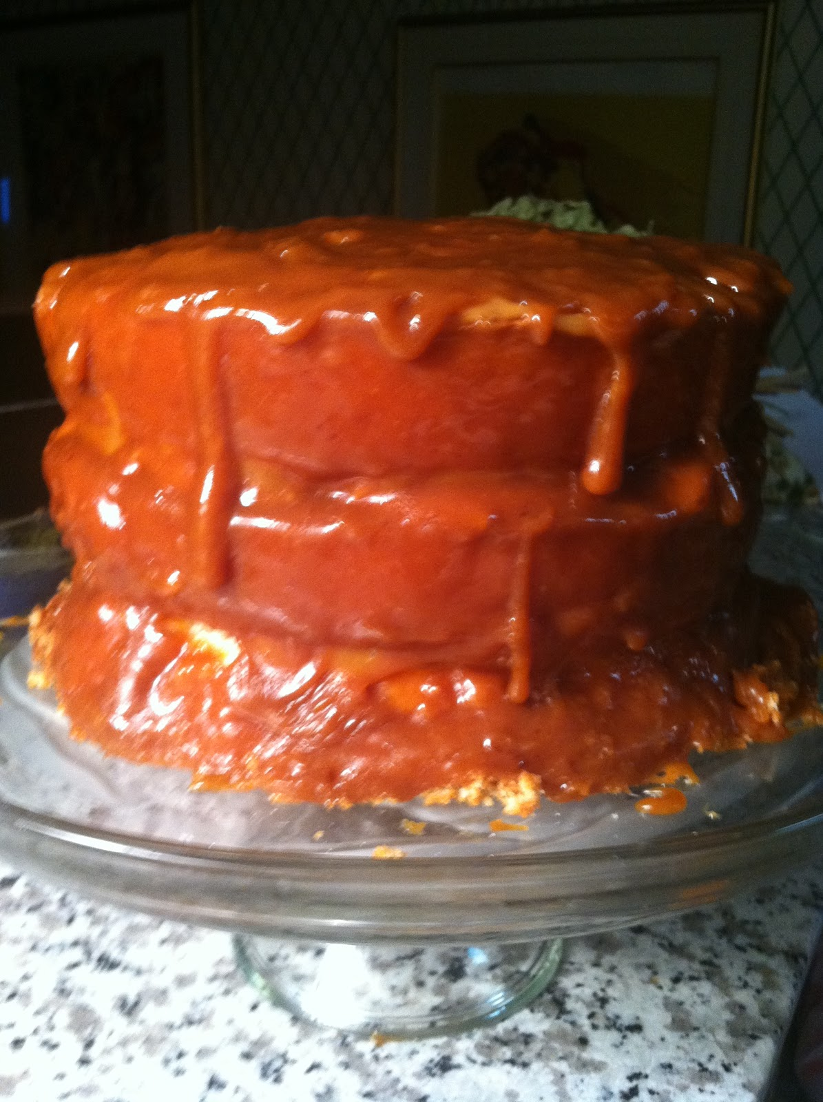 ... Old-fashioned Southern Jam Cake with Cooked Filling and Easy Caramel