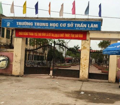 Trường THCS Trần Lãm, nơi xảy ra vụ án mạng đau lòng
