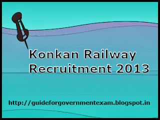 Konkan Railway Recruitment 2013