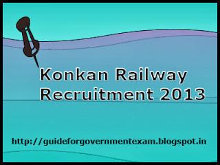 Konkan Railway Recruitment 2013