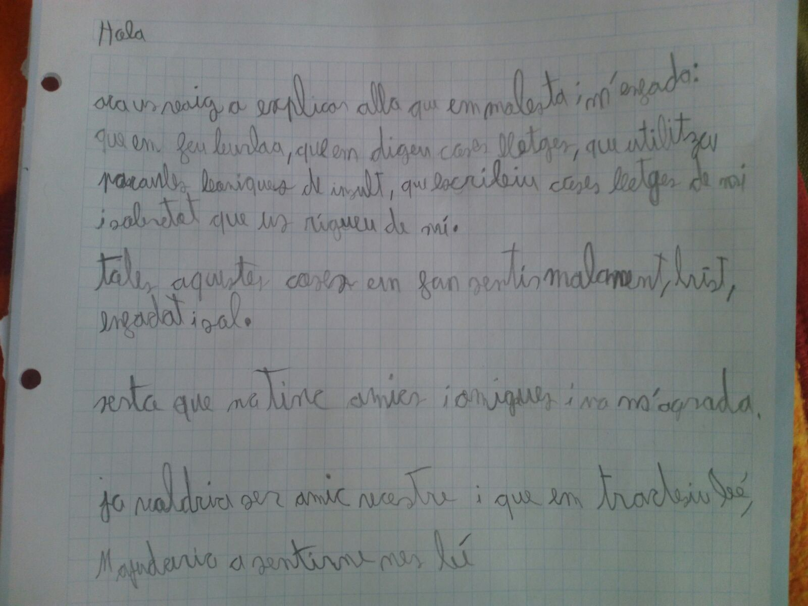CARTA NEN PATEIX BULLYING