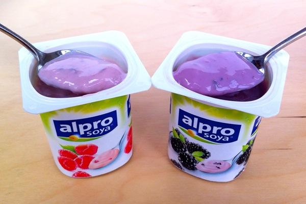 Alpro Yoghurts Blackberry Raspberry spoonfuls
