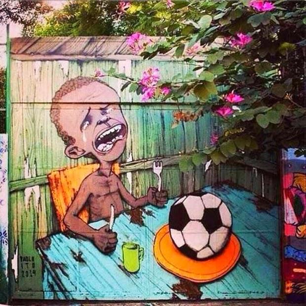 arte callejor contral el mundial de futbol