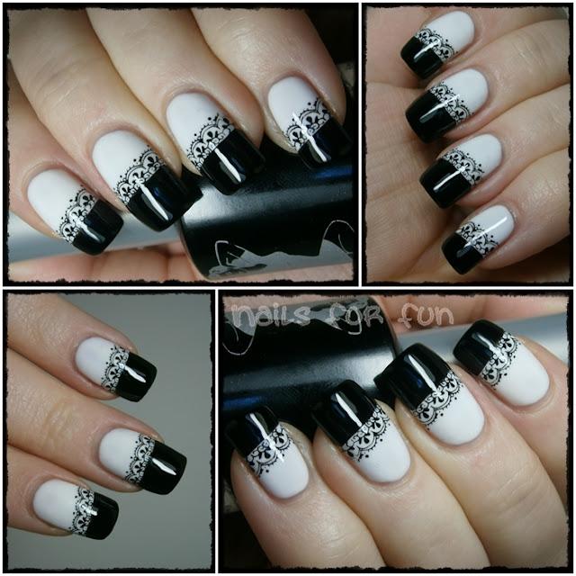 DEKORACIJA vaših prirodnih nokti, noktića, noktiju (samo slike - komentiranje je u drugoj temi) - Page 3 Black+and+white+nails