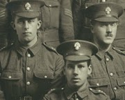 Barclays employees in uniform during the First World War
