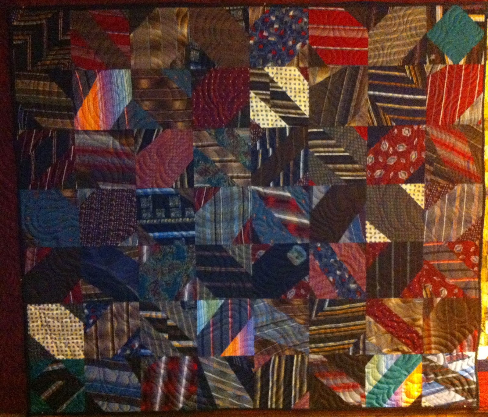 Katie's Quilts and Crafts: Quilt made of Silk Neck Ties : quilt made of ties - Adamdwight.com