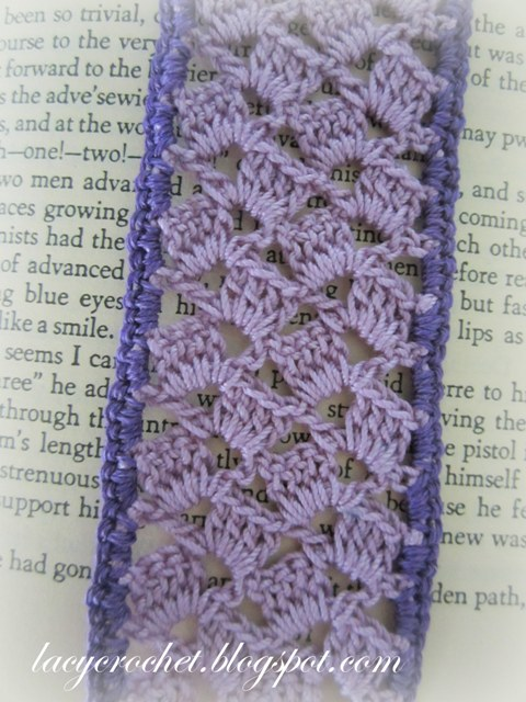 Lacy Crochet: Lacy Lilac Bookmark