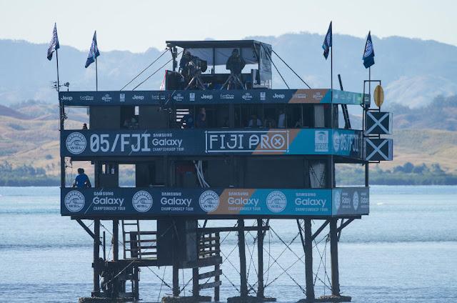 51 Fiji Pro Judges Tower Fiji Pro 2015 Fotos WSL Kirstin