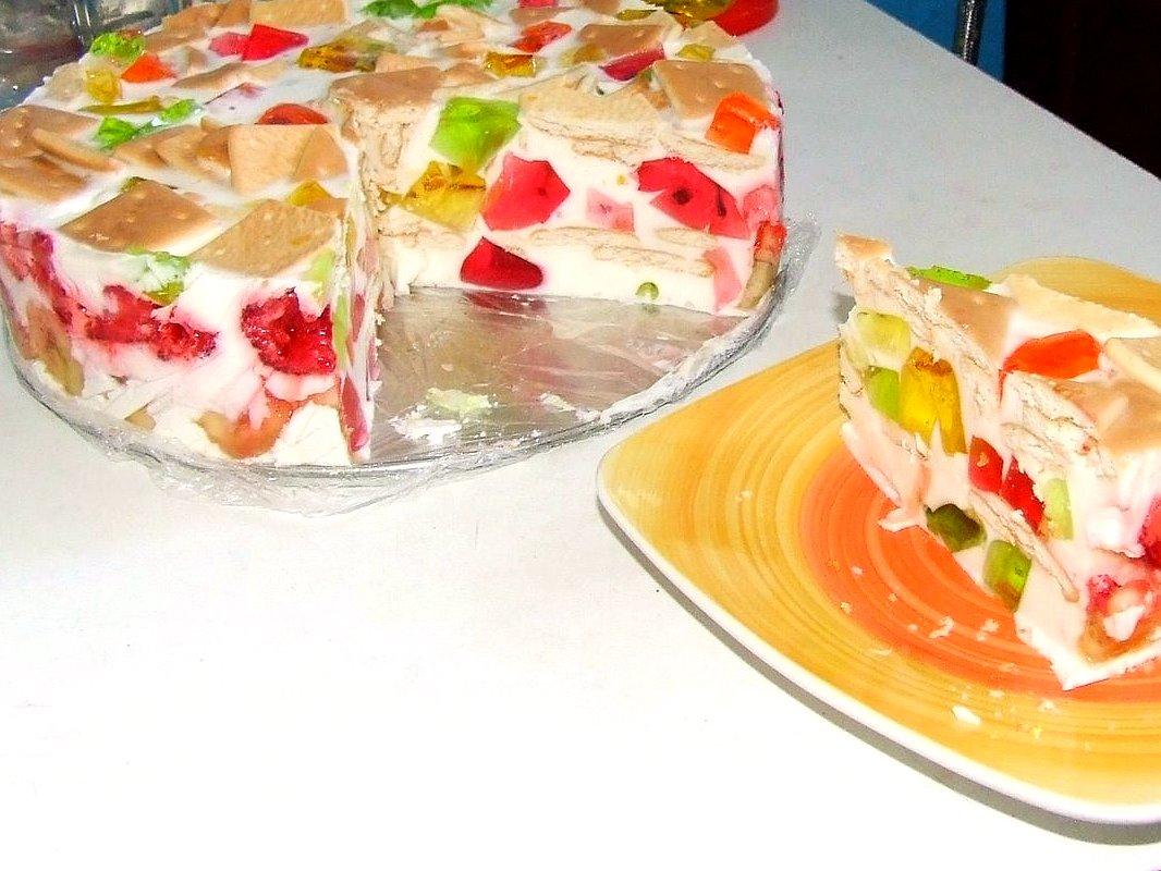 Торт битое стекло с крекером рецепт