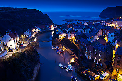 Staithes, North Yorkshire, at night by Mark Bulmer