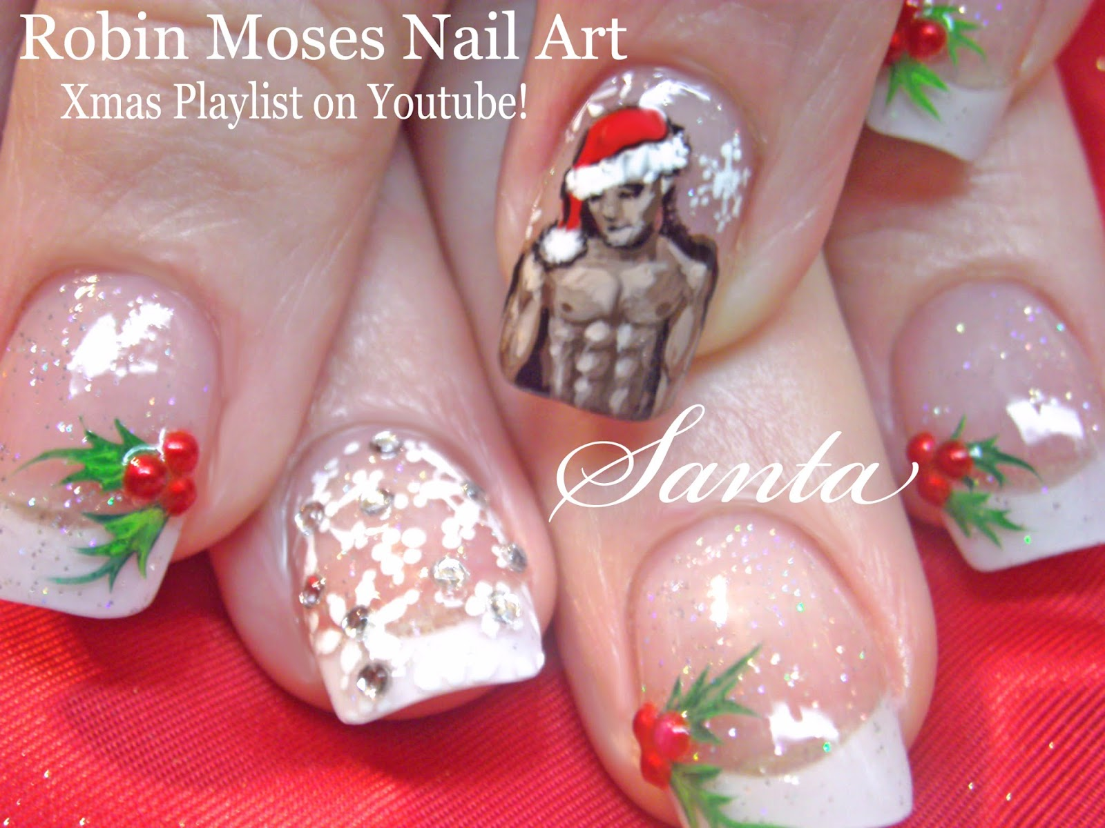 Robin moses nail art christmas nails 2 fun new designs up for cute christmas nails sexy santa victorias secret santa red and gold nails red and gold design xmas nails xmas nail art christmas 2015 prinsesfo Gallery