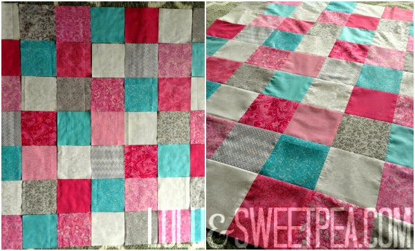 Lulu Sweet Pea Bright Simple Quilt For A Baby Girl Cool Simple Square Quilt Patterns