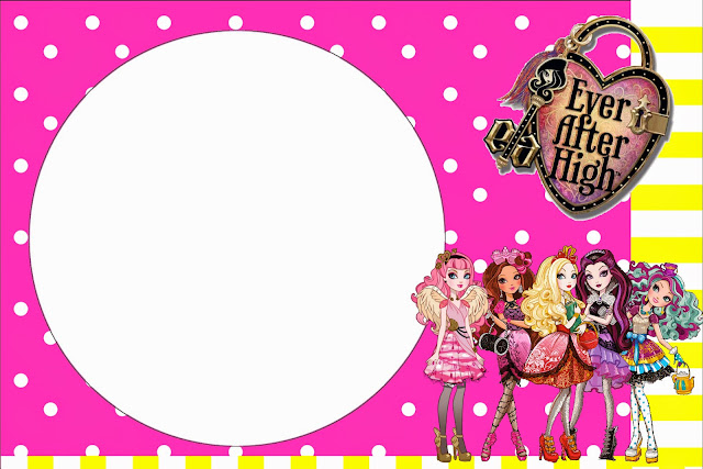 Pink And Yellow Ever After High Free Printable
