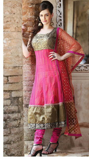 Gleaming Pink Salwar Kameez