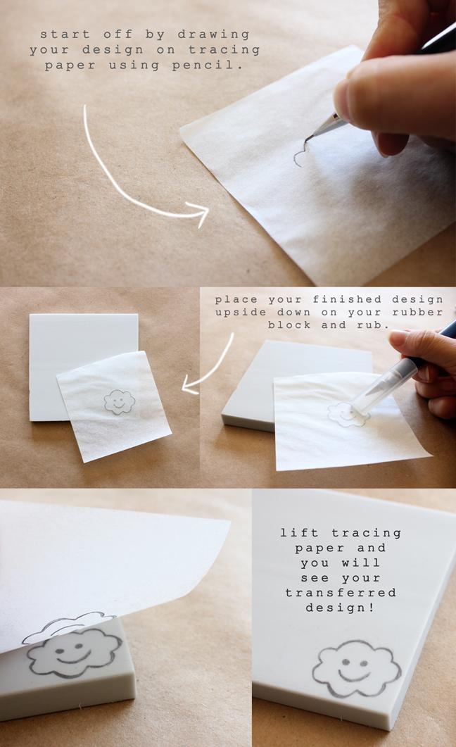 Teal tea diy hand carved stamp tutorial