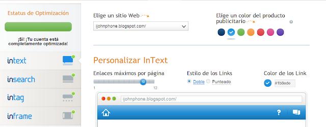 Con Infolinks personaliza la forma de tus anuncios