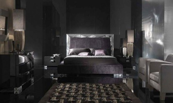 modern black contemporary bedroom design ideas 2012