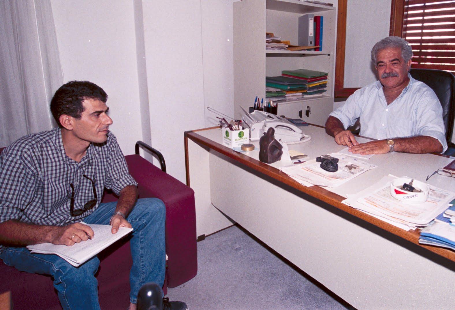 Στις 4 Σεπτεμβρίου 2000, συνέντευξη για το πρώτο φύλλο της εφημερίδας μας