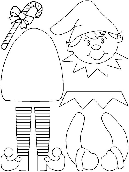 Christmas Elves Coloring Pages Print Out