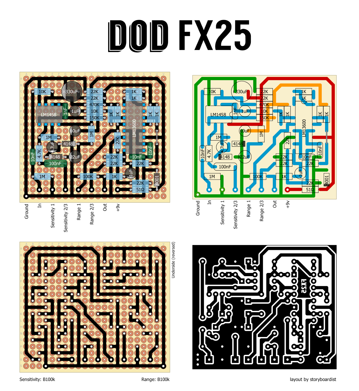 Dod Fx 25 Filter Type Mod Confirmed Wiring Diagram Standard The Layout Show Just A Wire On Lug 3 Of Sensitivity Pot But Not Other Lugs How You Would Connect