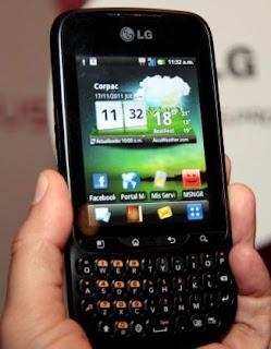 harga dan spesifikasi lg optimus pro, handphone android qwerty layar sentuh, gambar hp android qwerty optimus pro