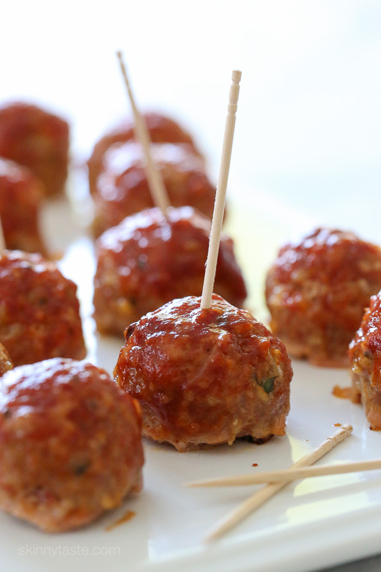 Sweet 'n Spicy Turkey Meatballs with Bacon and BBQ Sauce – perfect ...