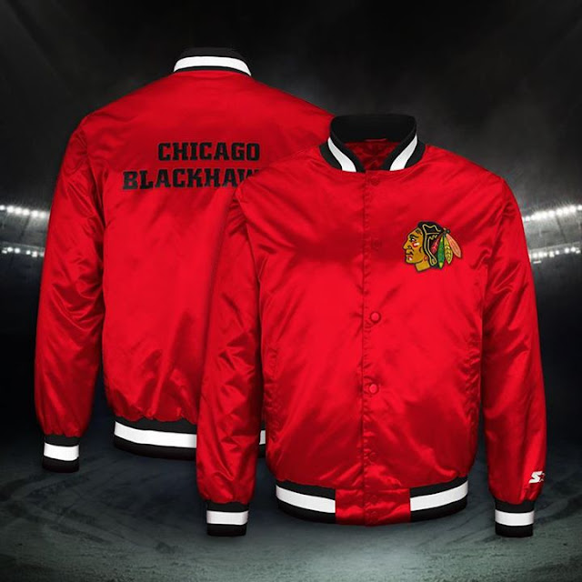 starter jacket chicago blackhawks