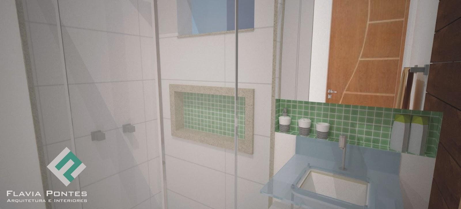 Flavia Pontes Arquitetura -> Banheiro Pequeno Social