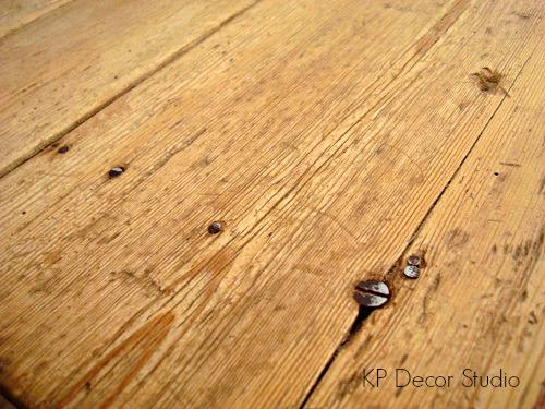 Mesas de madera restauradas