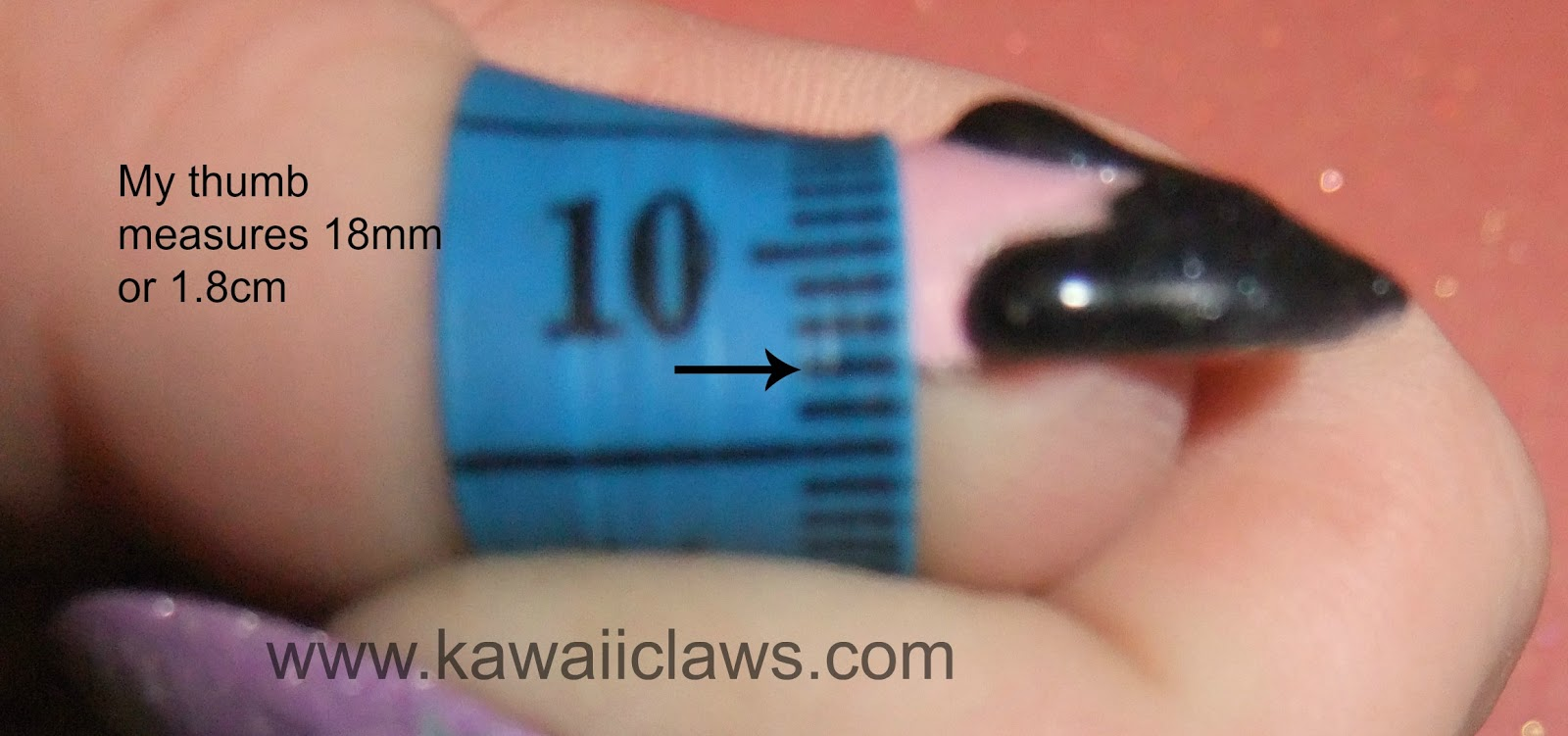 Kawaii Claws: How to measure for false / fake / artificial nails ...