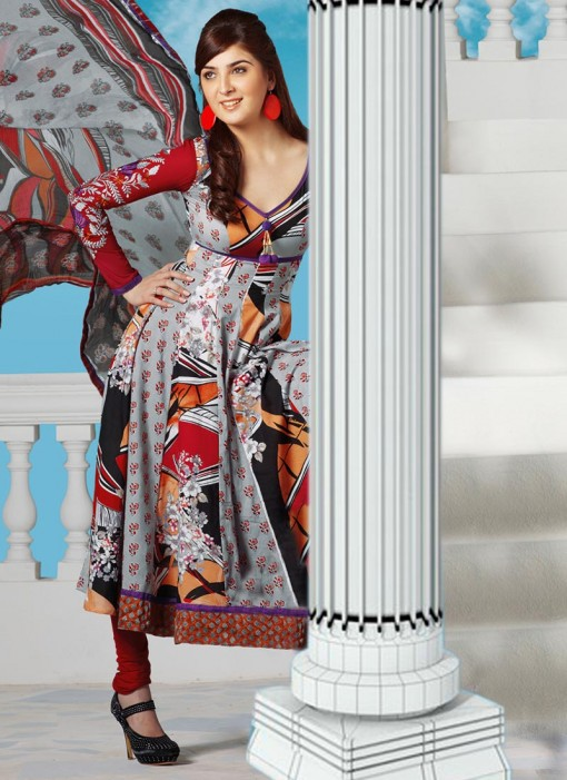 Models wearing Best Anarkali Salwar Kameez Designs from India & Pakistan