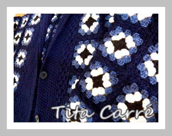 Casacão de squares em lã