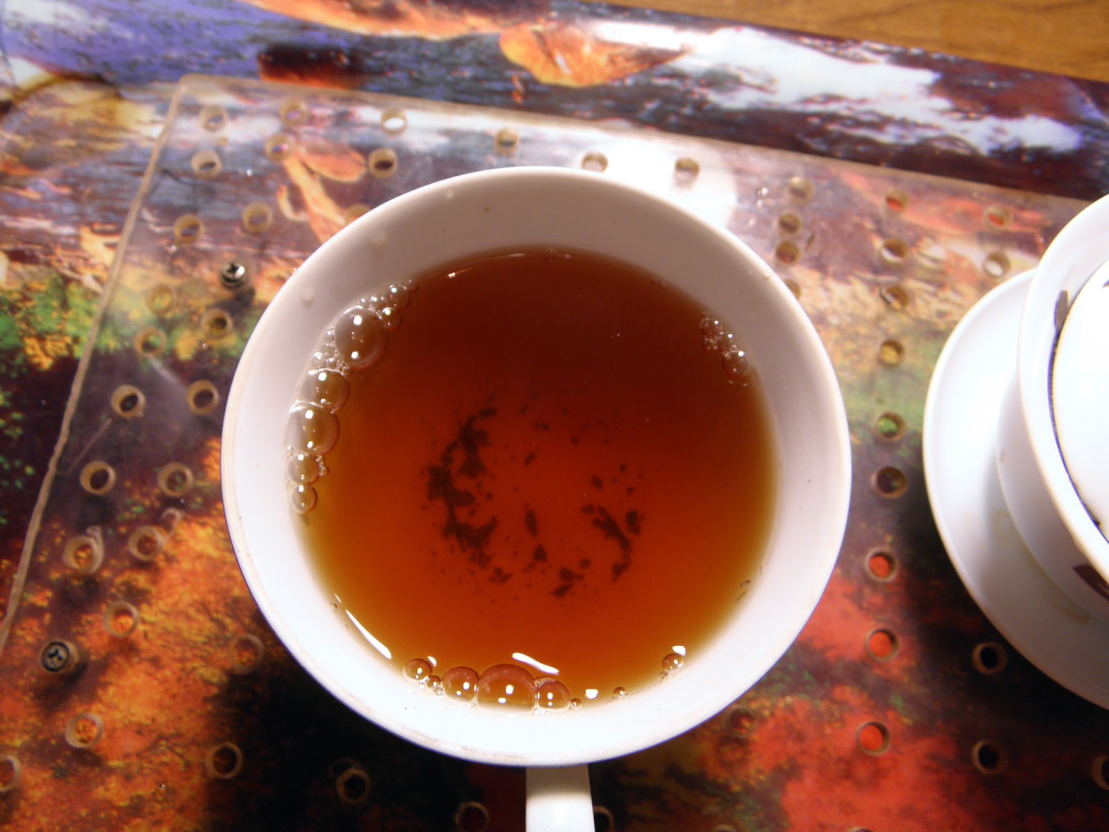 Bojenmi herbal tea - Leaves Consisting Of Large Whole Leaves And Lots Of Broken Chips Of Leaves Also That Look Like They Have Been Roasted