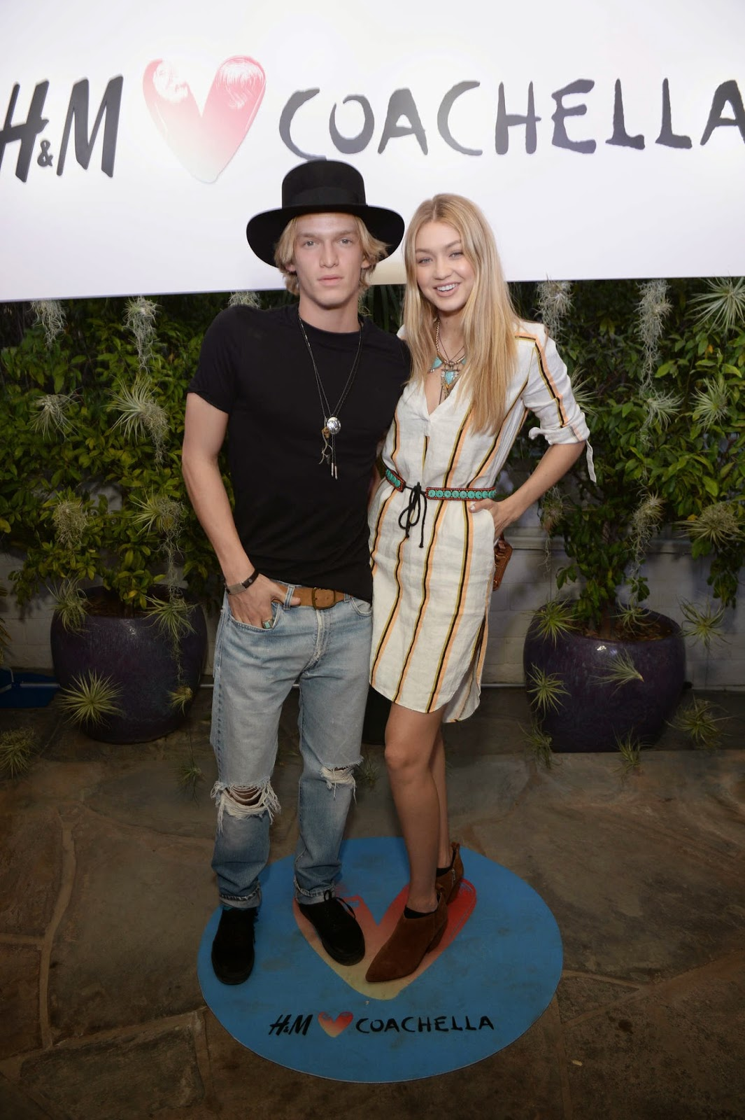 Gigi Hadid – H&M Loves Coachella Party in Palm Springs