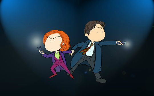 Mulder and Scully art