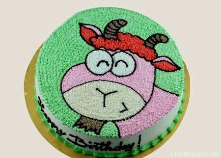 Hình ảnh bánh sinh nhật hình con trâu