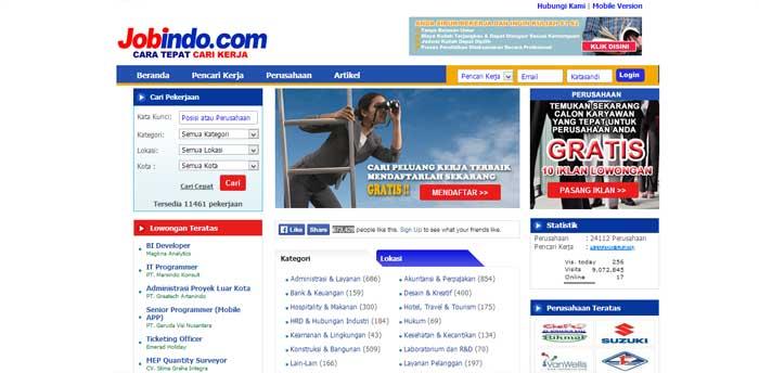 Situs Lowongan Kerja JobsIndo