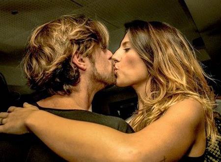 Giorgia Lucini e Andrea bacio