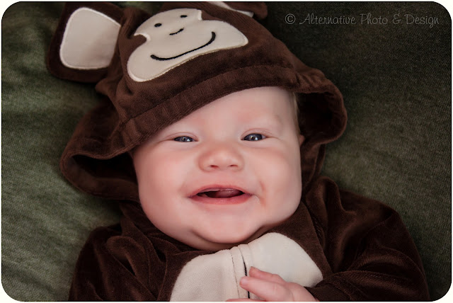 Mr. Monkey Man is 3 Months | Baby Photographer – Janesville, WI