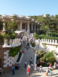 The entrance to Gaudi's Park Guell in Barcelona