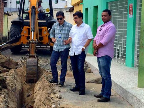 Novo sistema de abastecimento sendo testado em Limoeiro