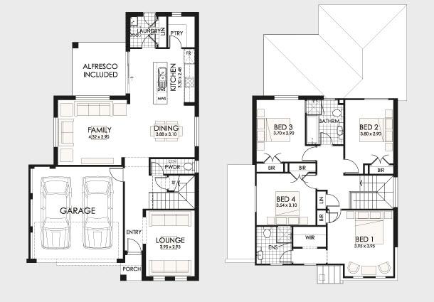 Planos de casa de dos pisos imagui for Niveles en planos arquitectonicos