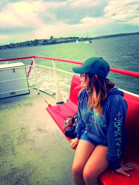 Olivia Inkster, ferry in Maine, Portland Maine boat rides, Peak's Island Maine, Maine Islands, lobster in Me