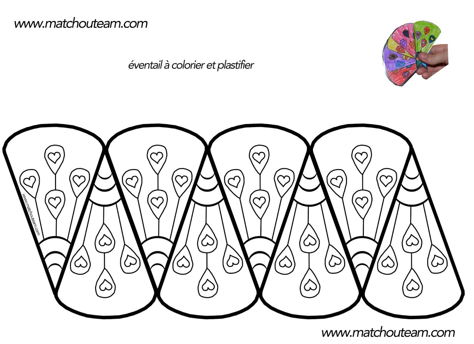 ma tchou team coloriage d 39 un ventail plastifier. Black Bedroom Furniture Sets. Home Design Ideas