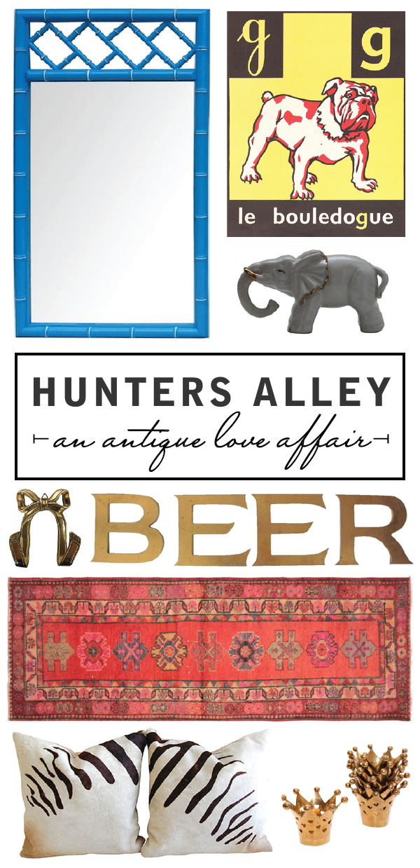 an antique love affair with @huntersalley.
