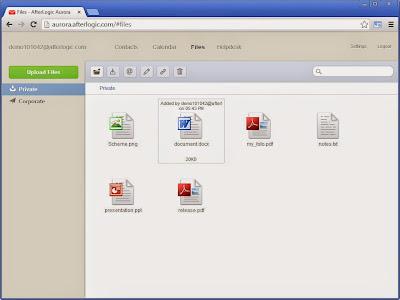 Файловое хранилище AfterLogic Aurora